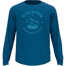 Odlo Concord T-Shirt L/S Crew Neck Men, mykonos blue/discover graphic